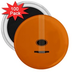 Minimalism Art Simple Guitar 3  Magnets (100 Pack) by Mariart