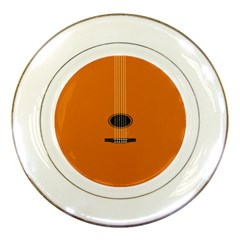 Minimalism Art Simple Guitar Porcelain Plates by Mariart