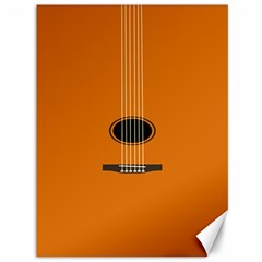 Minimalism Art Simple Guitar Canvas 36  X 48   by Mariart