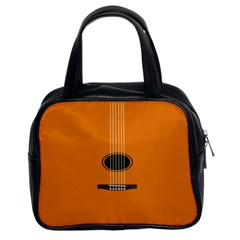 Minimalism Art Simple Guitar Classic Handbags (2 Sides) by Mariart