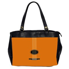 Minimalism Art Simple Guitar Office Handbags (2 Sides)  by Mariart