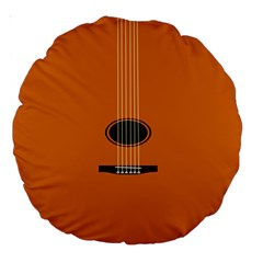 Minimalism Art Simple Guitar Large 18  Premium Round Cushions by Mariart
