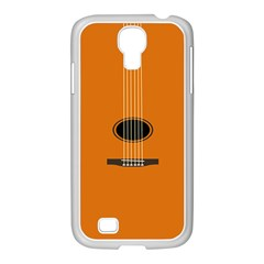 Minimalism Art Simple Guitar Samsung Galaxy S4 I9500/ I9505 Case (white) by Mariart