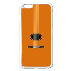 Minimalism Art Simple Guitar Apple Iphone 6 Plus/6s Plus Enamel White Case by Mariart
