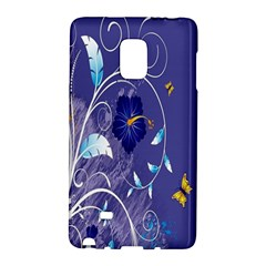 Flowers Butterflies Patterns Lines Purple Galaxy Note Edge by Mariart