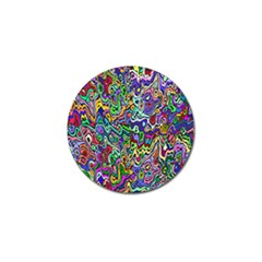 Colorful Abstract Paint Rainbow Golf Ball Marker (10 Pack) by Mariart