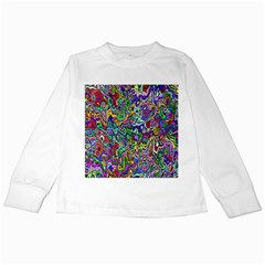 Colorful Abstract Paint Rainbow Kids Long Sleeve T Shirts by Mariart