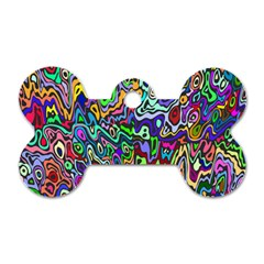 Colorful Abstract Paint Rainbow Dog Tag Bone (one Side) by Mariart