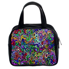 Colorful Abstract Paint Rainbow Classic Handbags (2 Sides) by Mariart