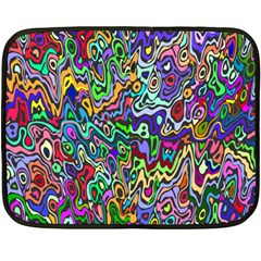 Colorful Abstract Paint Rainbow Double Sided Fleece Blanket (mini)  by Mariart