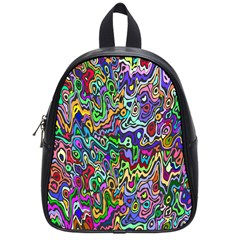 Colorful Abstract Paint Rainbow School Bags (small)  by Mariart