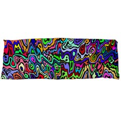 Colorful Abstract Paint Rainbow Body Pillow Case (dakimakura) by Mariart