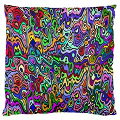 Colorful Abstract Paint Rainbow Large Cushion Case (two Sides) by Mariart