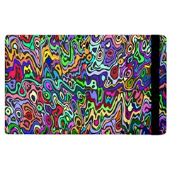 Colorful Abstract Paint Rainbow Apple Ipad 3/4 Flip Case by Mariart