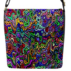 Colorful Abstract Paint Rainbow Flap Messenger Bag (s) by Mariart