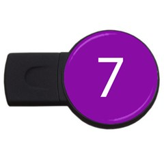 Number 7 Purple Usb Flash Drive Round (2 Gb) by Mariart