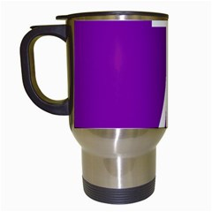 Number 7 Purple Travel Mugs (white) by Mariart