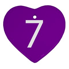 Number 7 Purple Heart Ornament (two Sides) by Mariart