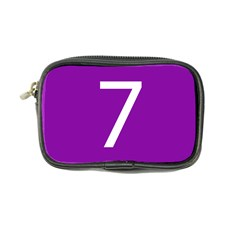 Number 7 Purple Coin Purse by Mariart