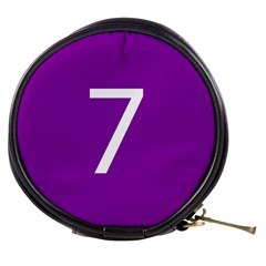 Number 7 Purple Mini Makeup Bags by Mariart