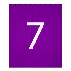 Number 7 Purple Shower Curtain 60  X 72  (medium)  by Mariart