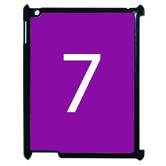 Number 7 Purple Apple Ipad 2 Case (black) by Mariart
