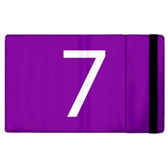 Number 7 Purple Apple Ipad 3/4 Flip Case by Mariart