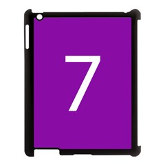 Number 7 Purple Apple Ipad 3/4 Case (black) by Mariart
