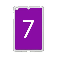 Number 7 Purple Ipad Mini 2 Enamel Coated Cases by Mariart