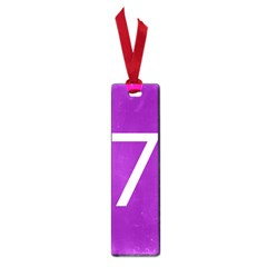 Number 7 Purple Small Book Marks by Mariart