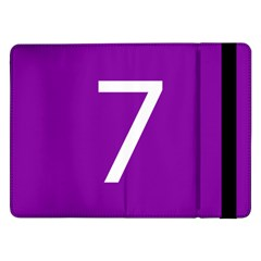 Number 7 Purple Samsung Galaxy Tab Pro 12 2  Flip Case by Mariart