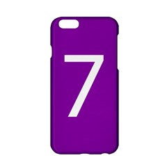 Number 7 Purple Apple Iphone 6/6s Hardshell Case by Mariart