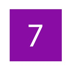 Number 7 Purple Small Satin Scarf (square) by Mariart