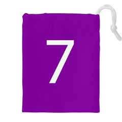 Number 7 Purple Drawstring Pouches (xxl) by Mariart