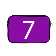 Number 7 Purple Apple Macbook Pro 13  Zipper Case by Mariart