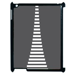 Minimalist Stairs White Grey Apple Ipad 2 Case (black) by Mariart
