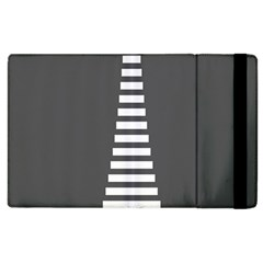 Minimalist Stairs White Grey Apple Ipad 3/4 Flip Case by Mariart