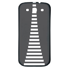 Minimalist Stairs White Grey Samsung Galaxy S3 S Iii Classic Hardshell Back Case by Mariart