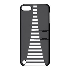 Minimalist Stairs White Grey Apple Ipod Touch 5 Hardshell Case With Stand by Mariart