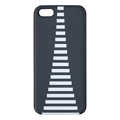 Minimalist Stairs White Grey Apple Iphone 5 Premium Hardshell Case by Mariart