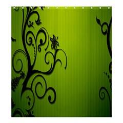 Illustration Wallpaper Barbusak Leaf Green Shower Curtain 66  X 72  (large)  by Mariart