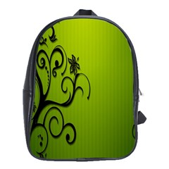 Illustration Wallpaper Barbusak Leaf Green School Bags(large)
