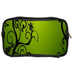 Illustration Wallpaper Barbusak Leaf Green Toiletries Bags by Mariart