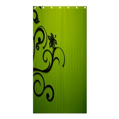 Illustration Wallpaper Barbusak Leaf Green Shower Curtain 36  X 72  (stall)  by Mariart