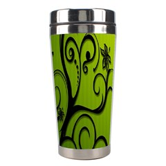 Illustration Wallpaper Barbusak Leaf Green Stainless Steel Travel Tumblers by Mariart