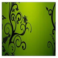 Illustration Wallpaper Barbusak Leaf Green Large Satin Scarf (square) by Mariart