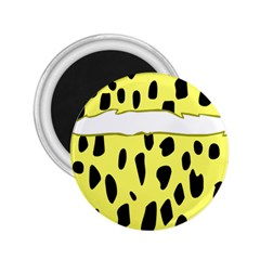 Leopard Polka Dot Yellow Black 2 25  Magnets by Mariart