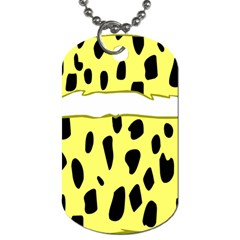 Leopard Polka Dot Yellow Black Dog Tag (two Sides) by Mariart
