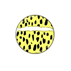 Leopard Polka Dot Yellow Black Hat Clip Ball Marker (10 Pack) by Mariart