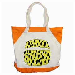 Leopard Polka Dot Yellow Black Accent Tote Bag by Mariart
